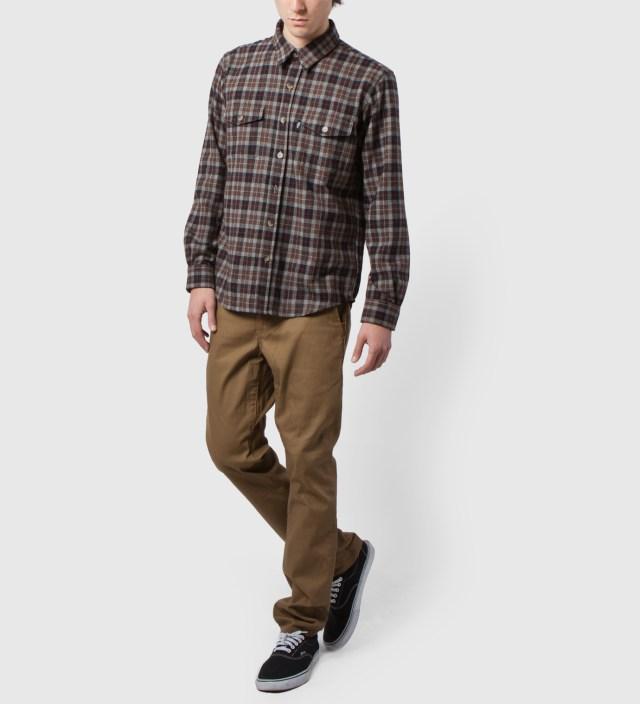 DQM Brown/Black Fishkill Plaid Wool Shirt