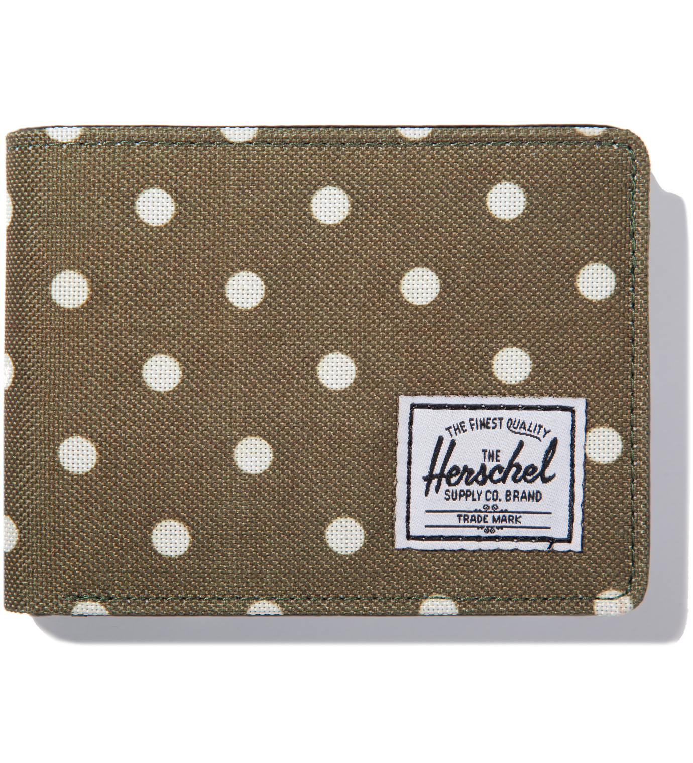 Herschel Supply Co. Olive Polka Dot Hank Wallet