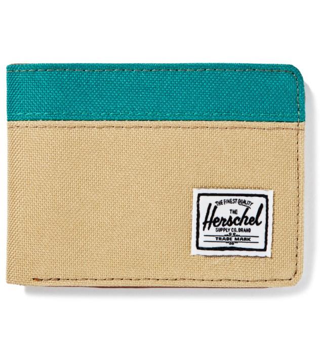 Herschel Supply Co. Khaki/Teal Hank Wallet