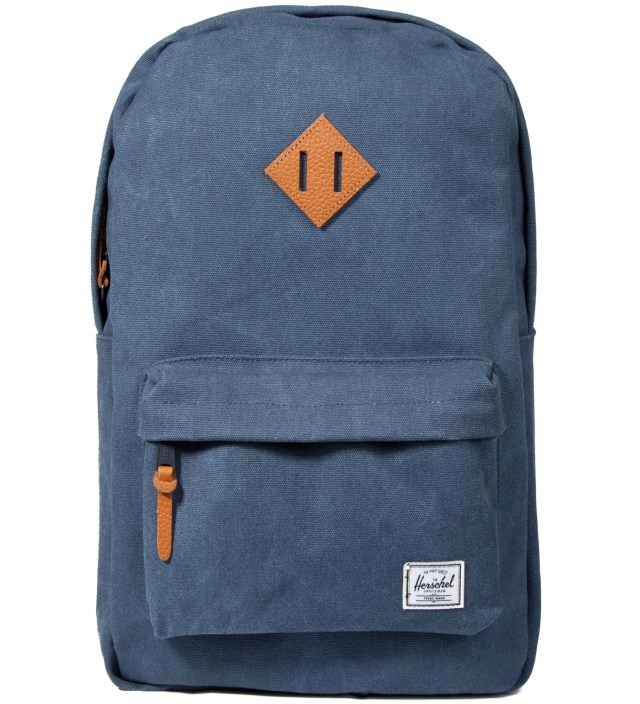 Herschel Supply Co. Washed Navy Heritage Canvas Backpack