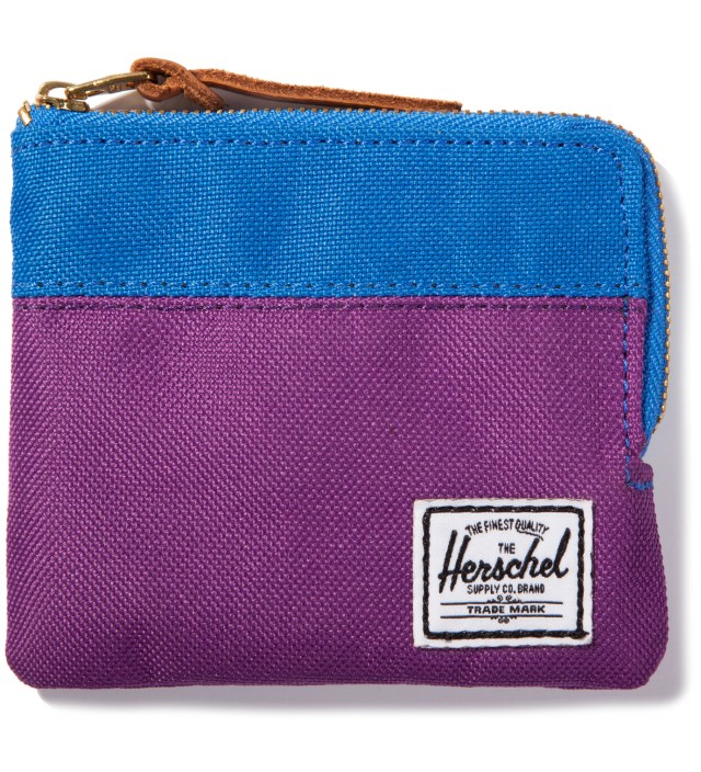Herschel Supply Co. Purple/Cobalt Johnny Wallet