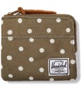 Herschel Supply Co. Olive Polka Dot Johnny Wallet