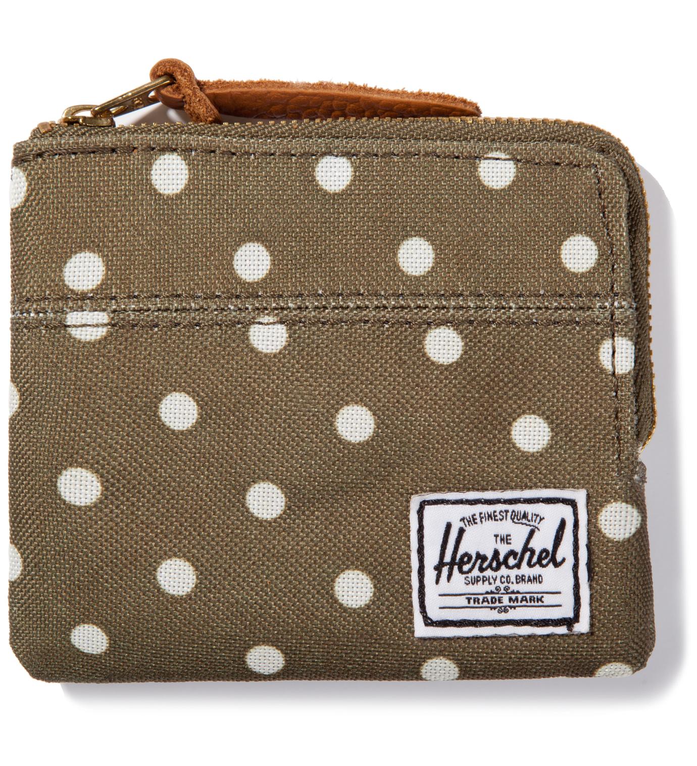 Herschel Supply Co. Olive Polka Dot Johnny Wallet