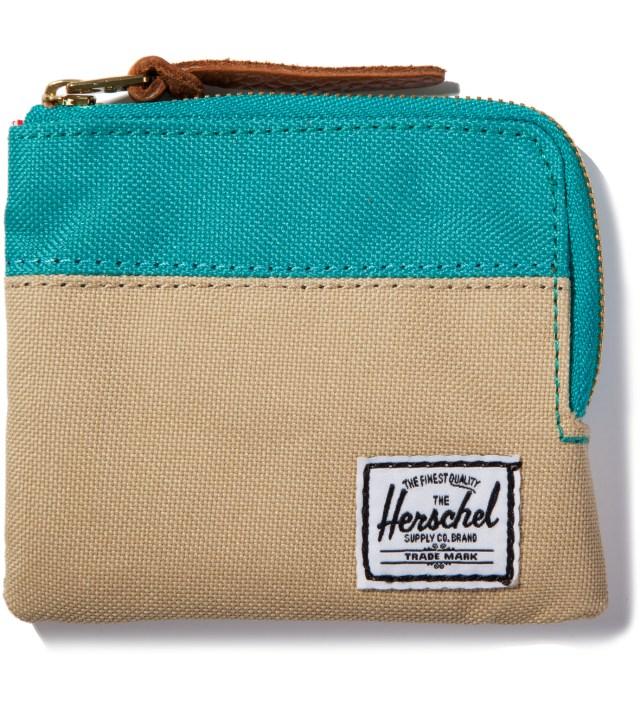 Herschel Supply Co. Khaki/Teal Johnny Wallet