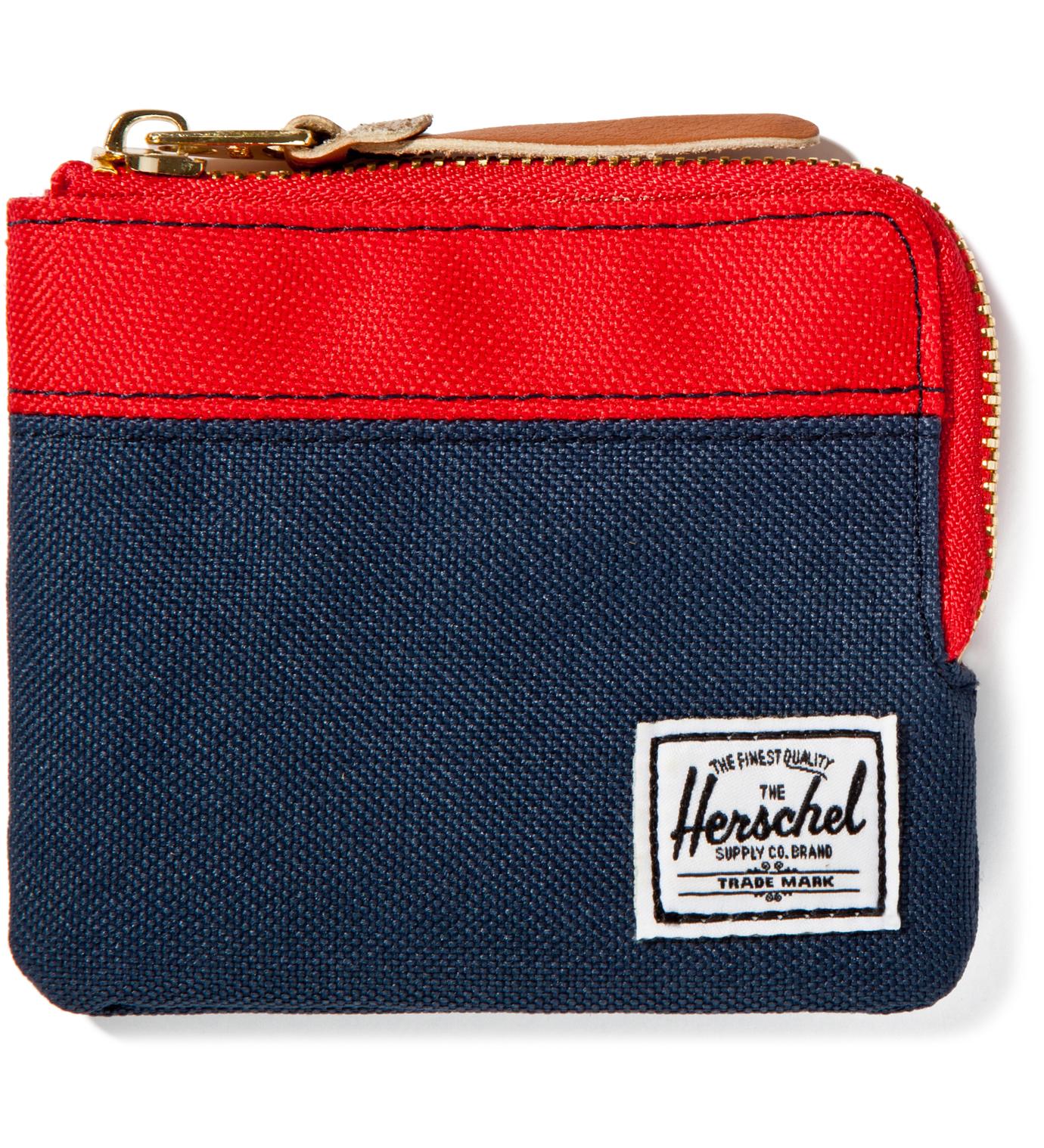 Herschel Supply Co. Red/Navy Johnny Wallet