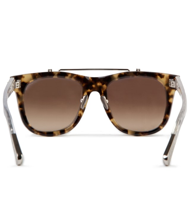 KRISVANASSCHE KRISVANASSCHE x Linda Farrow Brown Tortoiseshell With Flip Sunglass