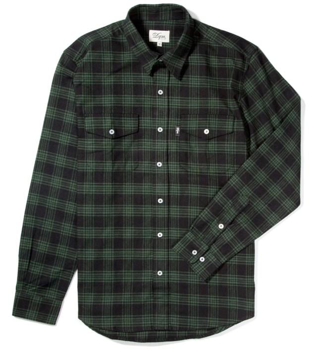 DQM Black/Green Kodiak Cotton Flannel Shirt