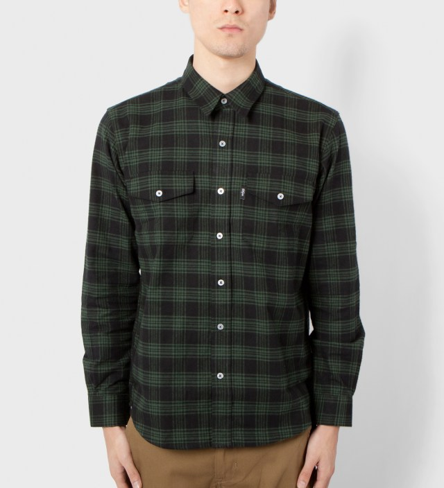 DQM Black/Green Kodiak Cotton Flannel Shirt