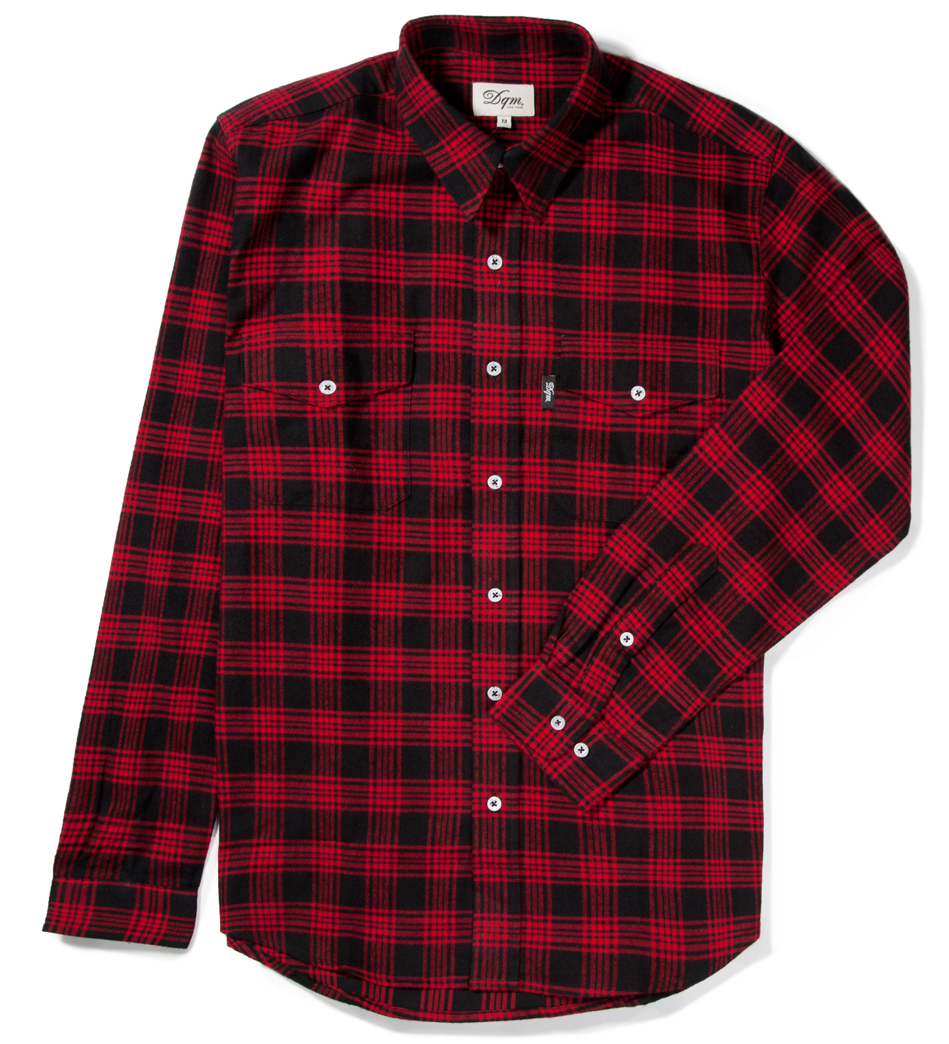 DQM Black/Red Kodiak Cotton Flannel Shirt