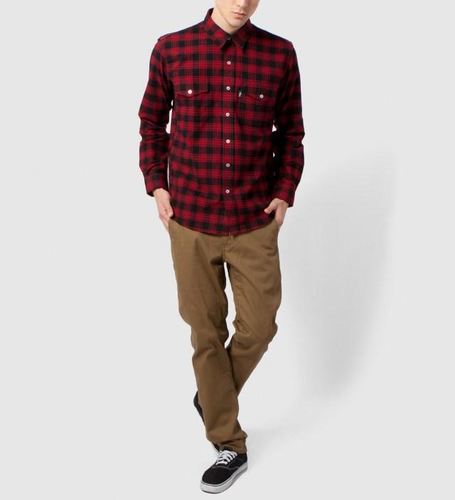 DQM Black/Red Kodiak Cotton Flannel Shirt