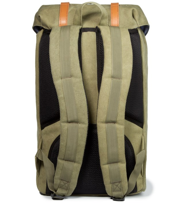 Herschel Supply Co. Washed Army Little America Canvas Backpack