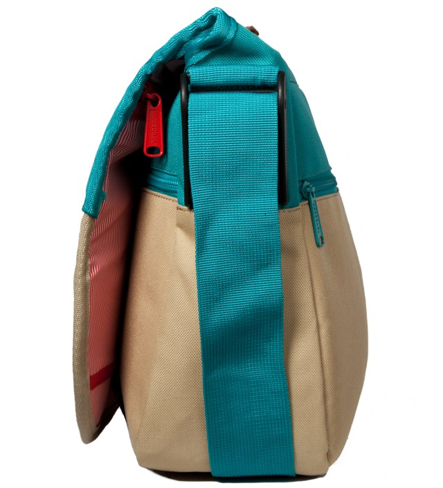 Herschel Supply Co. Khaki/Teal Mill Messenger Bag