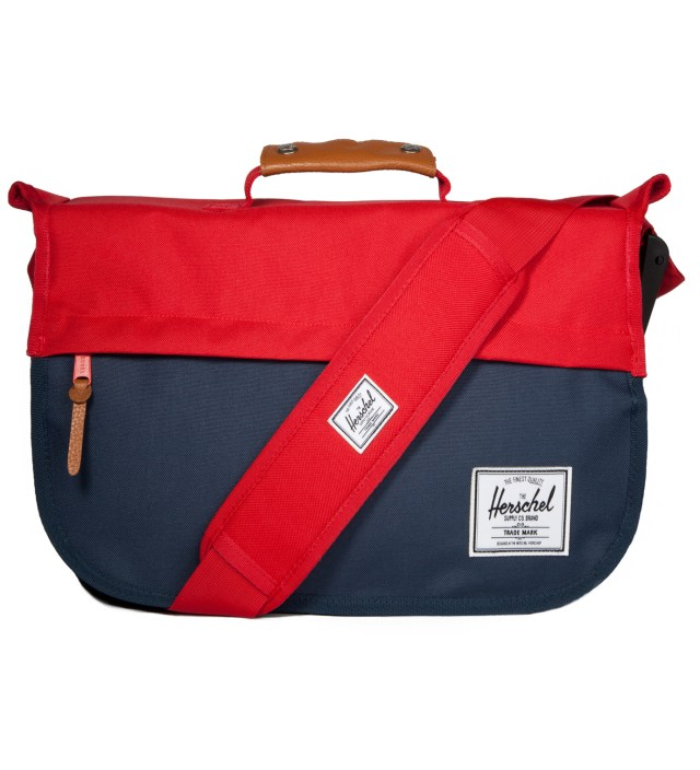 Herschel Supply Co. Red/Navy Mill Messenger Bag