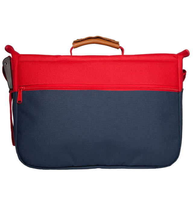 Herschel Supply Co. Red/Navy Mill Messenger Bag