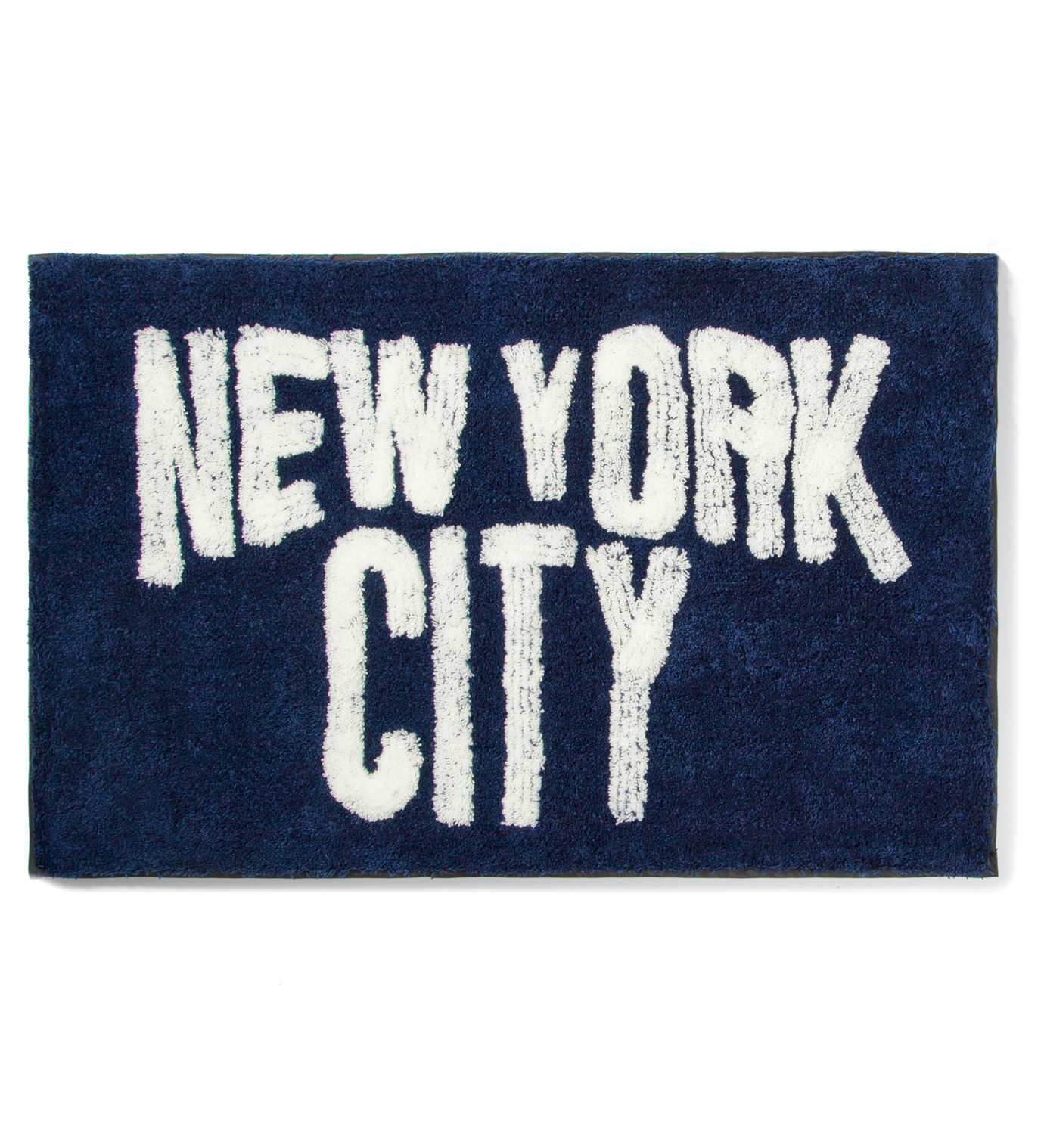 SECOND LAB Navy New York City Rug