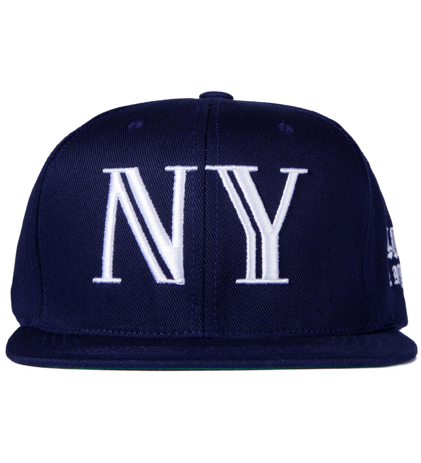 40oz NYC Navy Balmain NY Snapback Cap