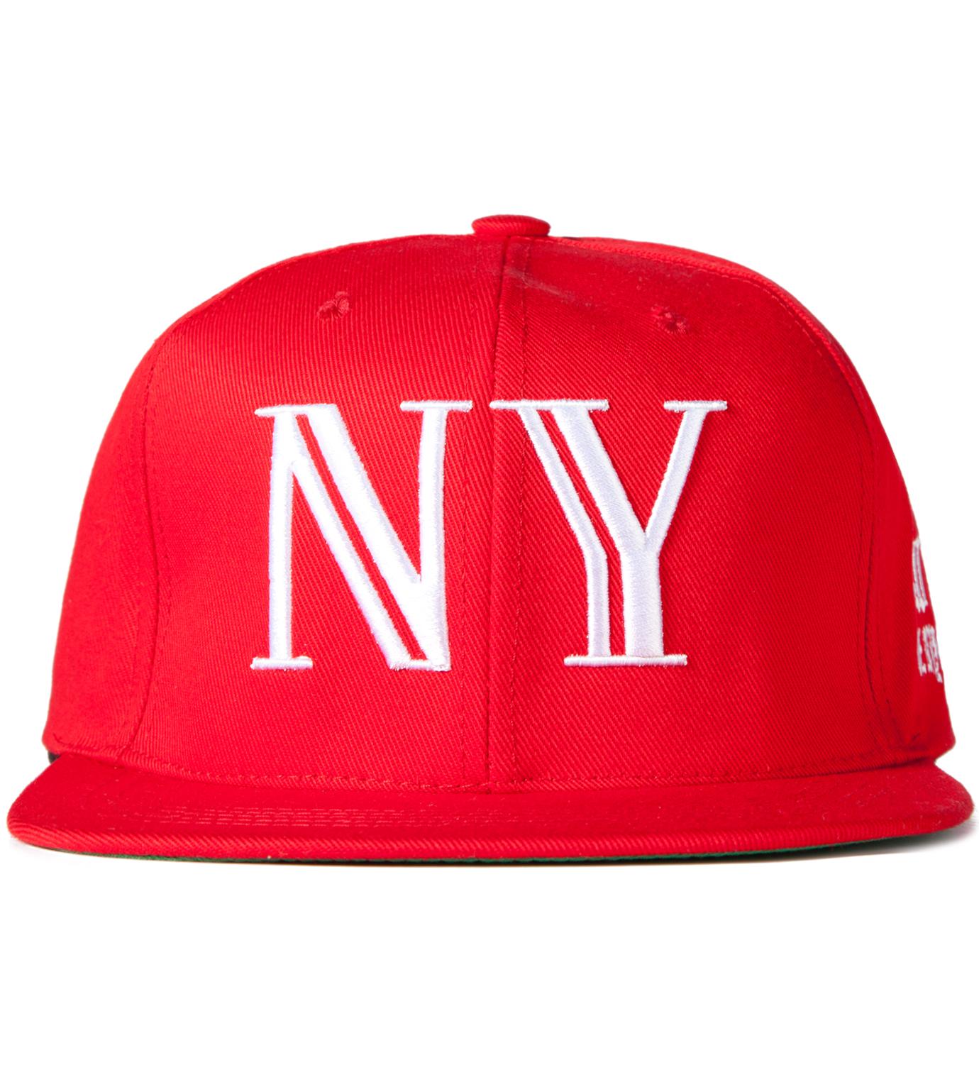 40oz NYC Red 9/11 Balmain NY Snapback Cap