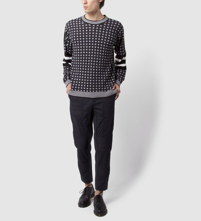 3.1 Phillip Lim Black/Black Slim Fit Utility Pant with Trapunto Cording