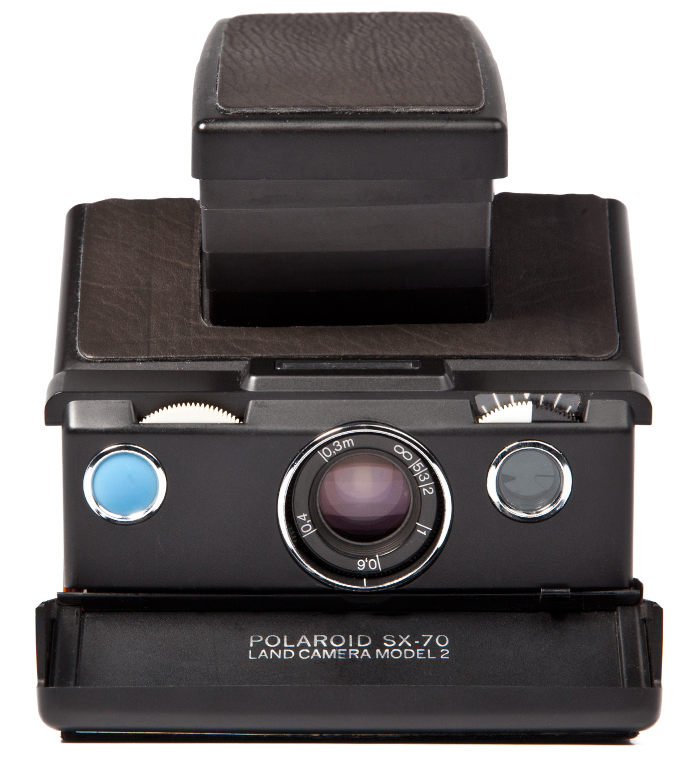 IMPOSSIBLE Black Body Refurbished Vintage Polaroid SX-70 Camera