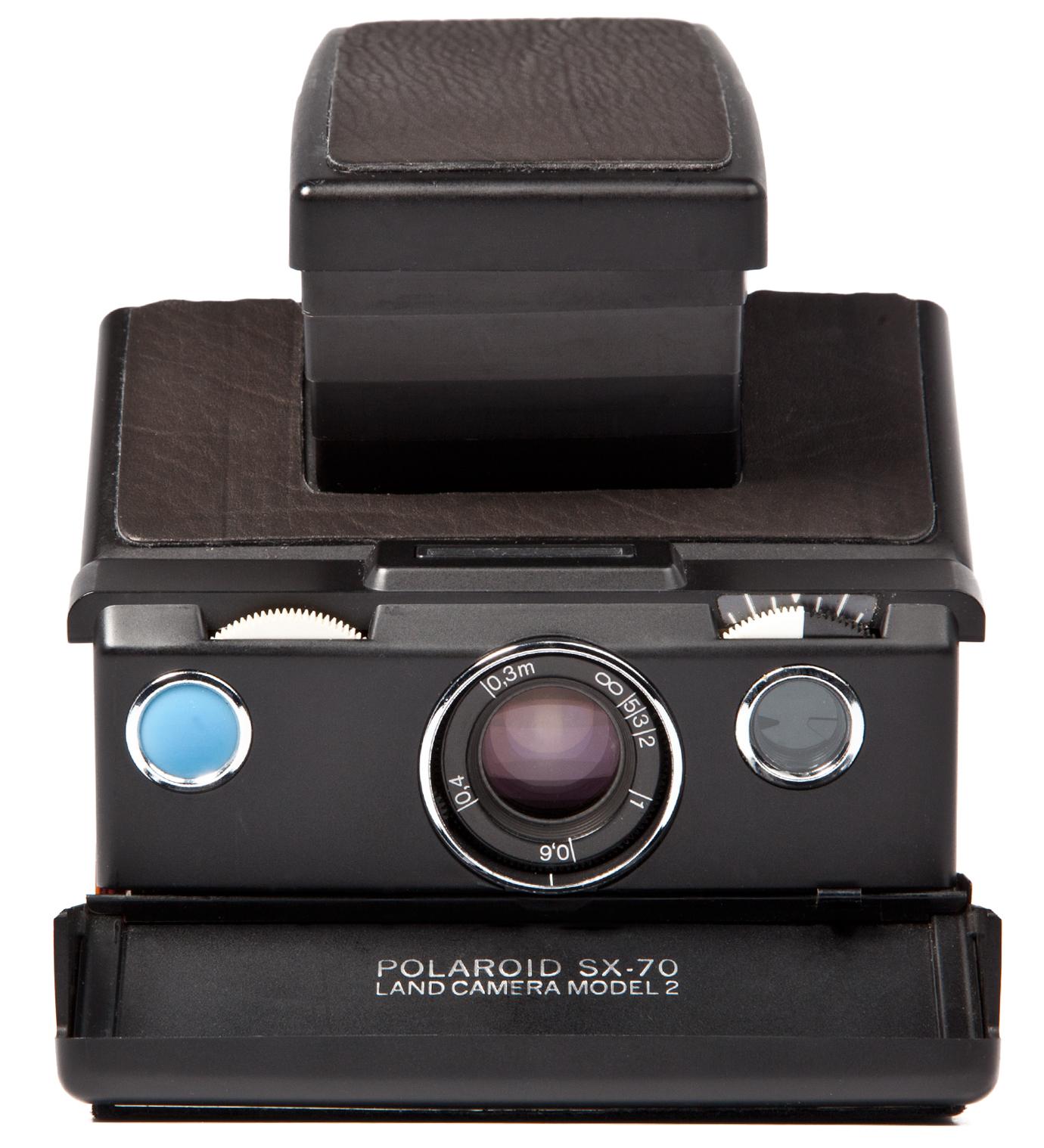 IMPOSSIBLE Black Body Refurbished Vintage Polaroid SX-70 Camera