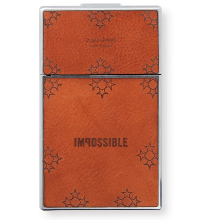 IMPOSSIBLE Brown Leather Star Graphic Print Japan Custom SX-70