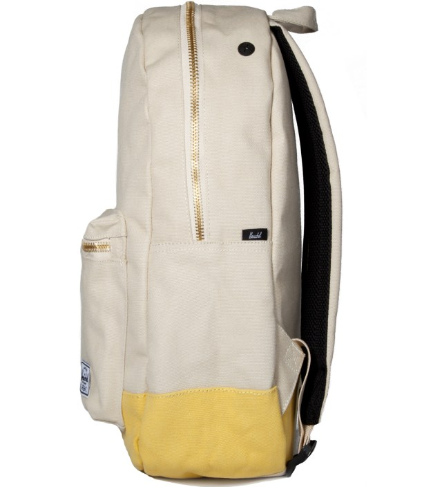 Herschel Supply Co. Natural/Washed Yellow Settlement Canvas Backpack