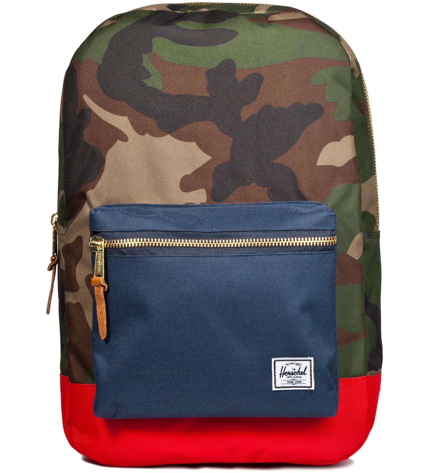 Herschel Supply Co. Woodland Camo/Navy/Red Settlement Backpack