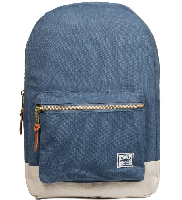 Herschel Supply Co. Washed Navy/Natural Settlement Canvas Backpack