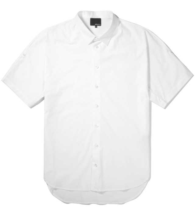 3.1 Phillip Lim Antique White S/S Dolman Button Up with Fisherman Sleeves