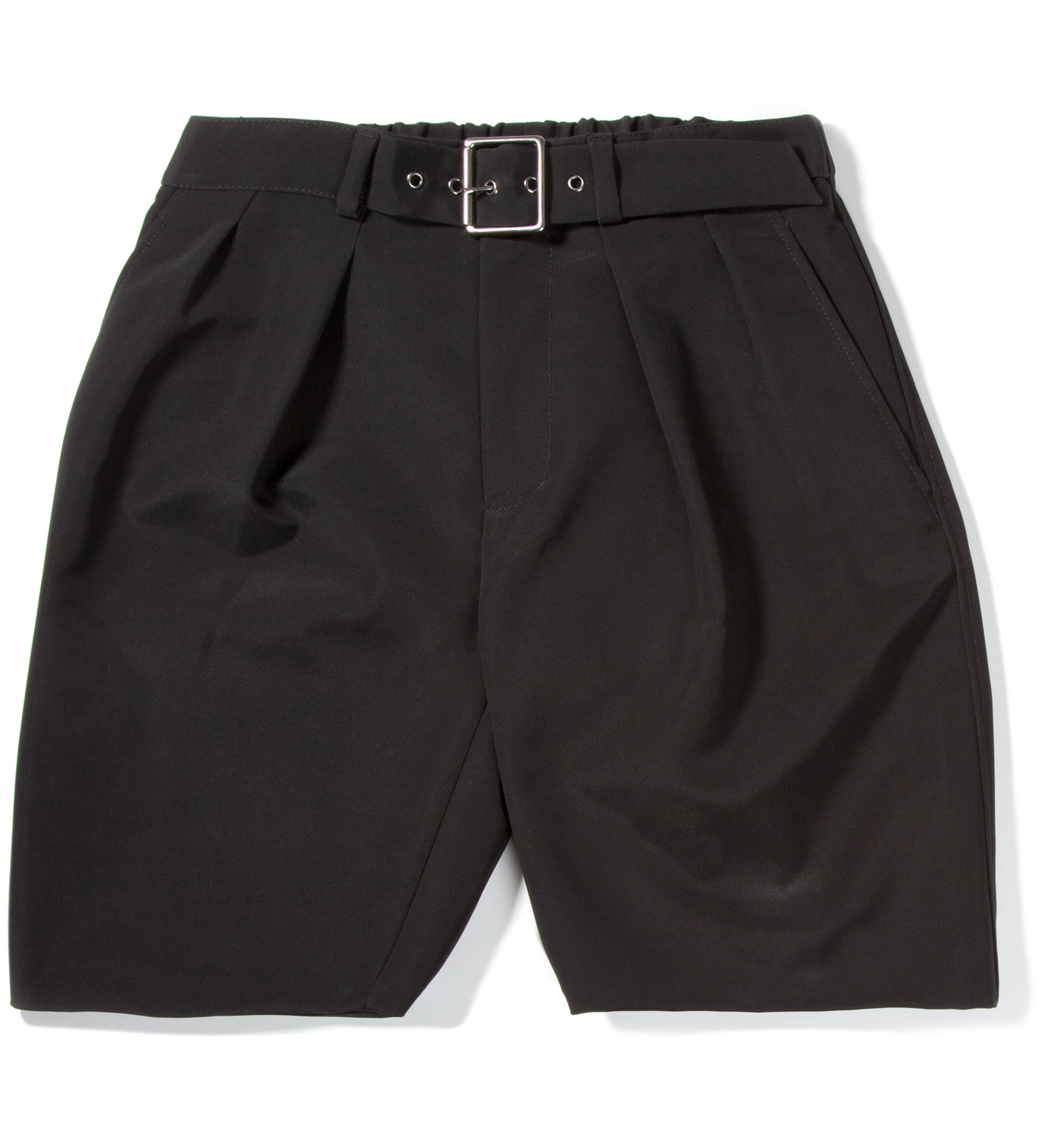 3.1 Phillip Lim Black Karate Short with Adjustable Belt