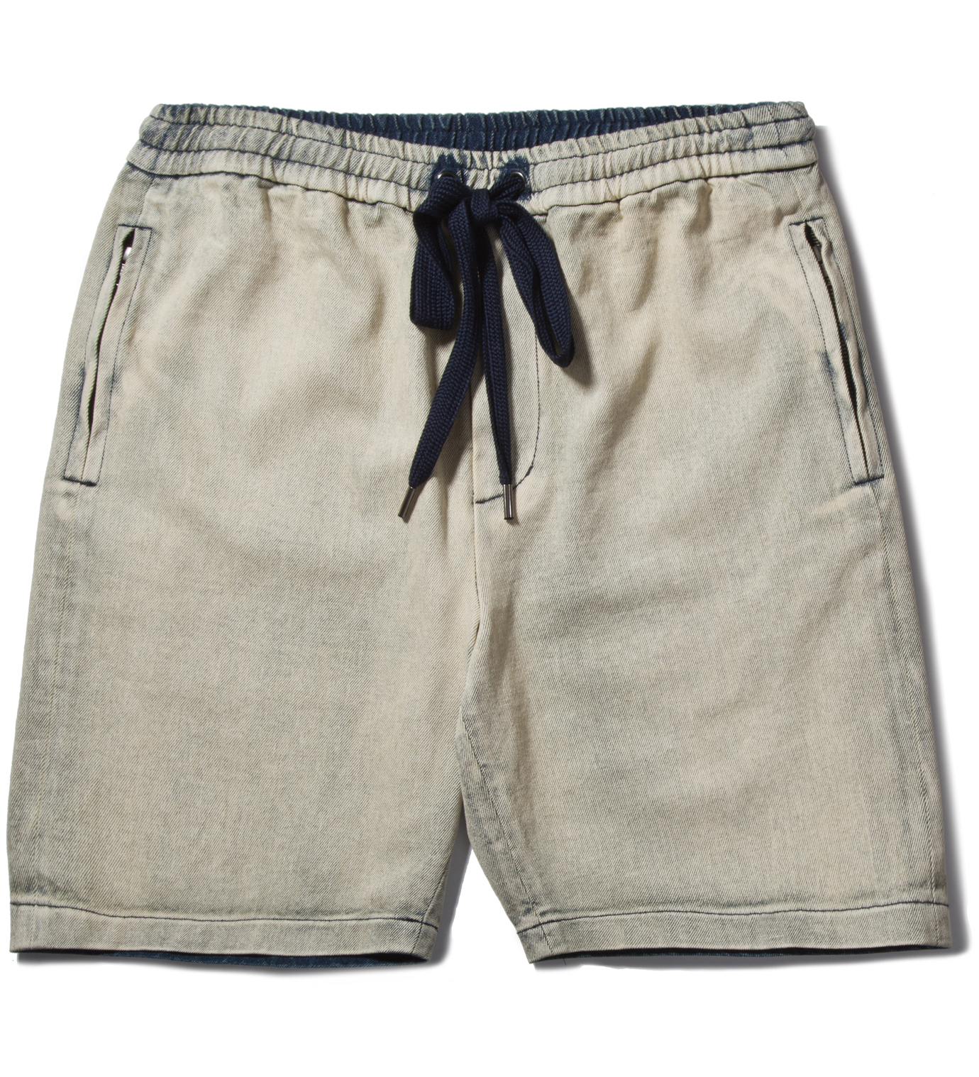 3.1 Phillip Lim Light Indigo Boxing Short with Side Zipper Pocket