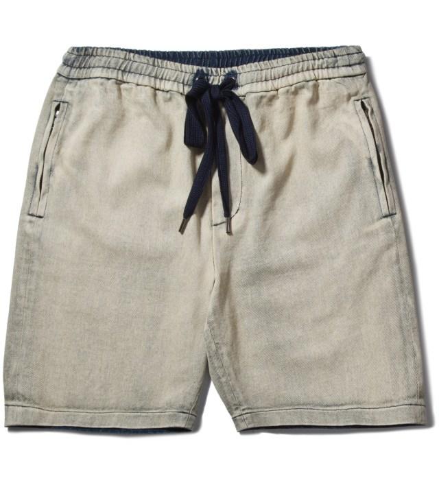 3.1 Phillip Lim Light Indigo Boxing Short with Side Zipper Pocket