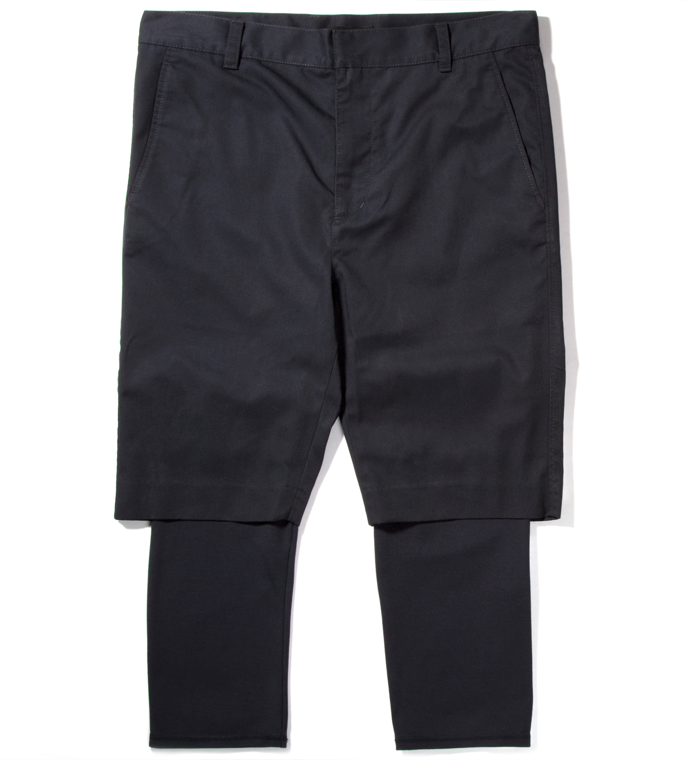 3.1 Phillip Lim Midnight Slim Fit Short with Knit Cuff