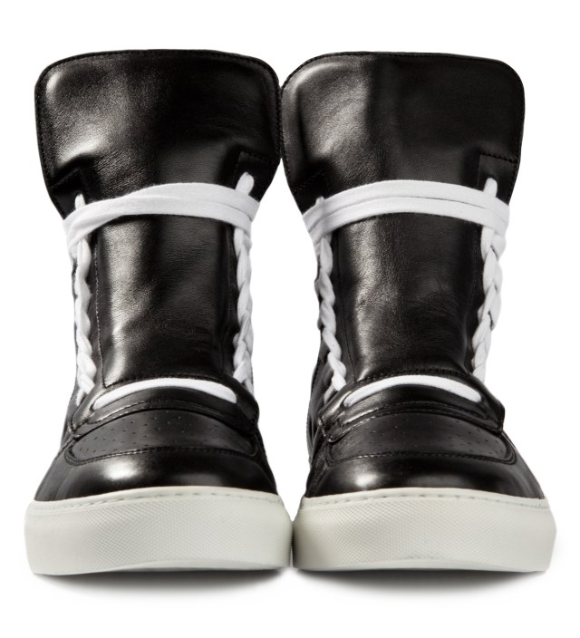 KRISVANASSCHE Black Sneakers with Lacing on Sides