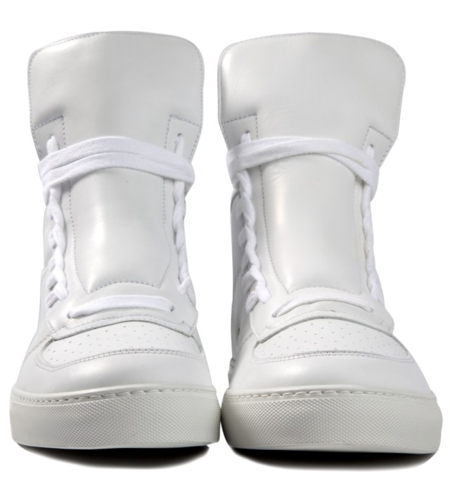 KRISVANASSCHE White Sneakers with Lacing on Sides