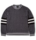 3.1 Phillip Lim Black Classic Fit L/S Crewneck Pullover with Stripe Pattern