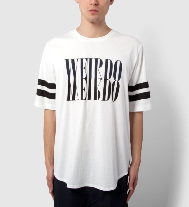 3.1 Phillip Lim Antique White Crewneck with Mirrored Weirdo Print T-Shirt
