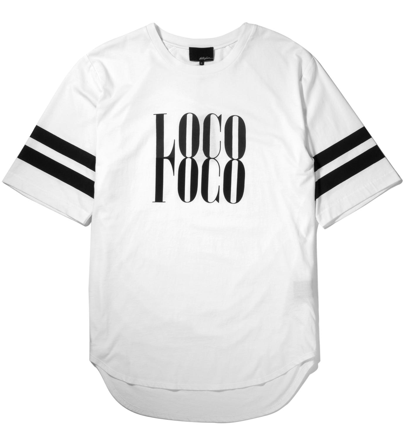 3.1 Phillip Lim Antique White Crewneck with Mirrored Loco Print T-Shirt