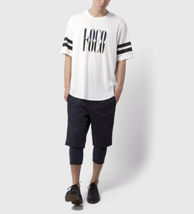 3.1 Phillip Lim Antique White Crewneck with Mirrored Loco Print T-Shirt