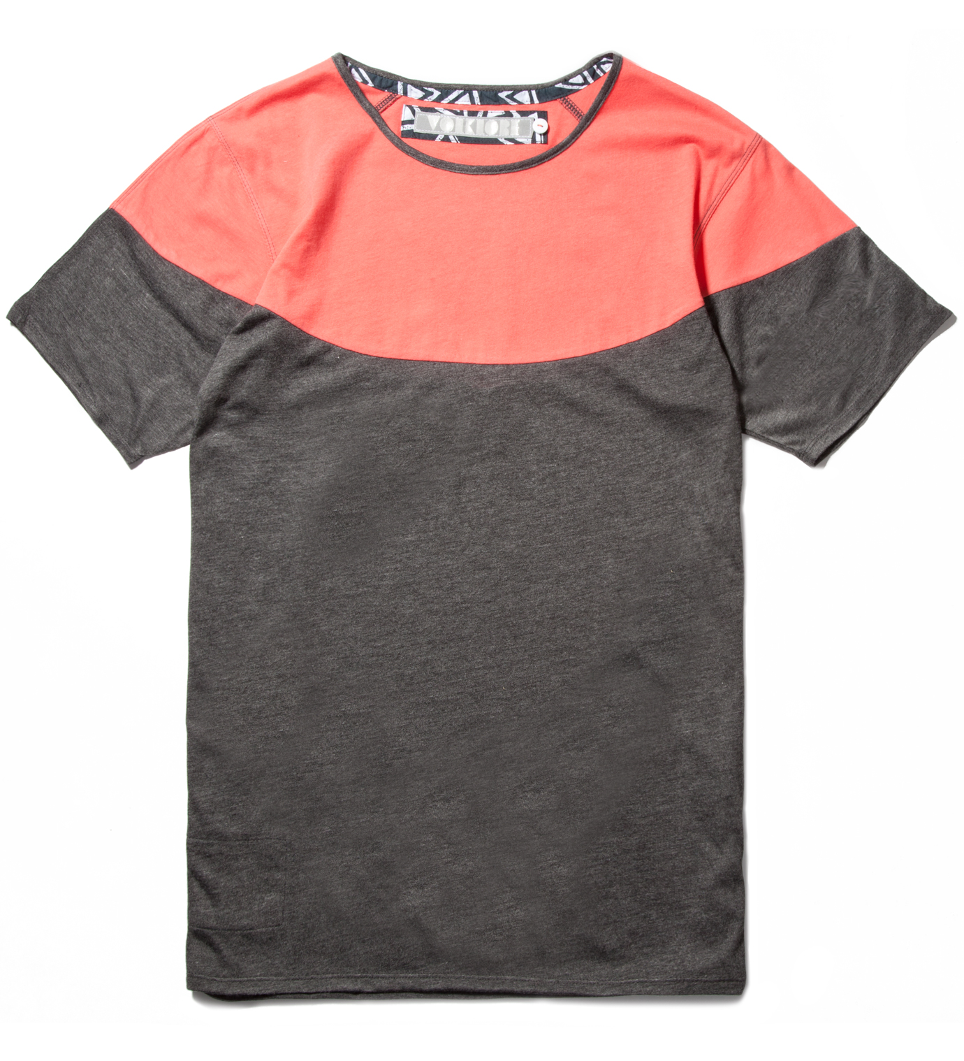 Volklore Charcoal Mint Open T-Shirt