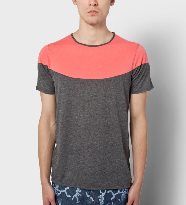 Volklore Charcoal Mint Open T-Shirt