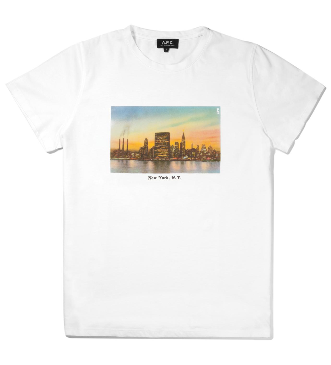 A.P.C. White NYC T-Shirt