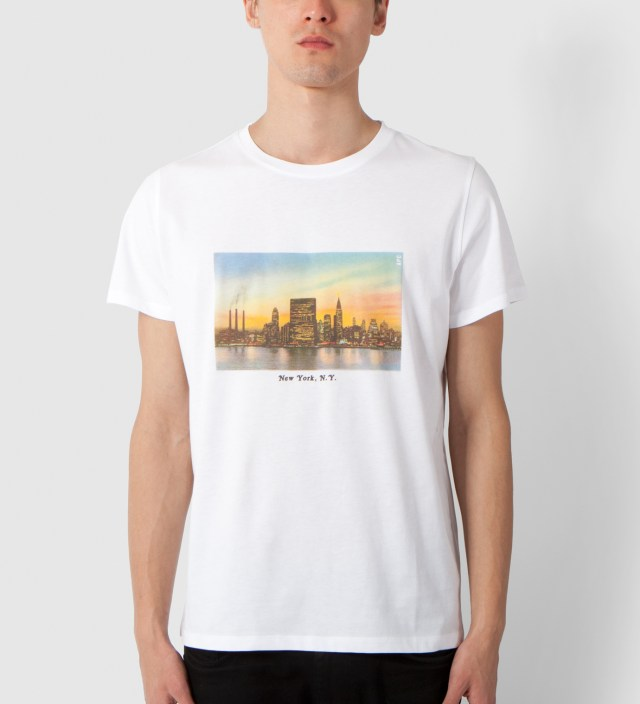 A.P.C. White NYC T-Shirt