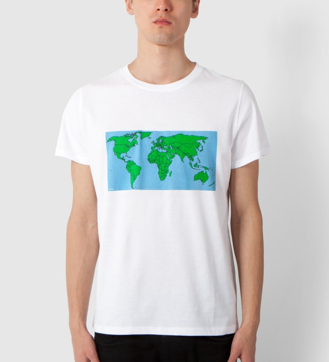 A.P.C. White Map T-Shirt