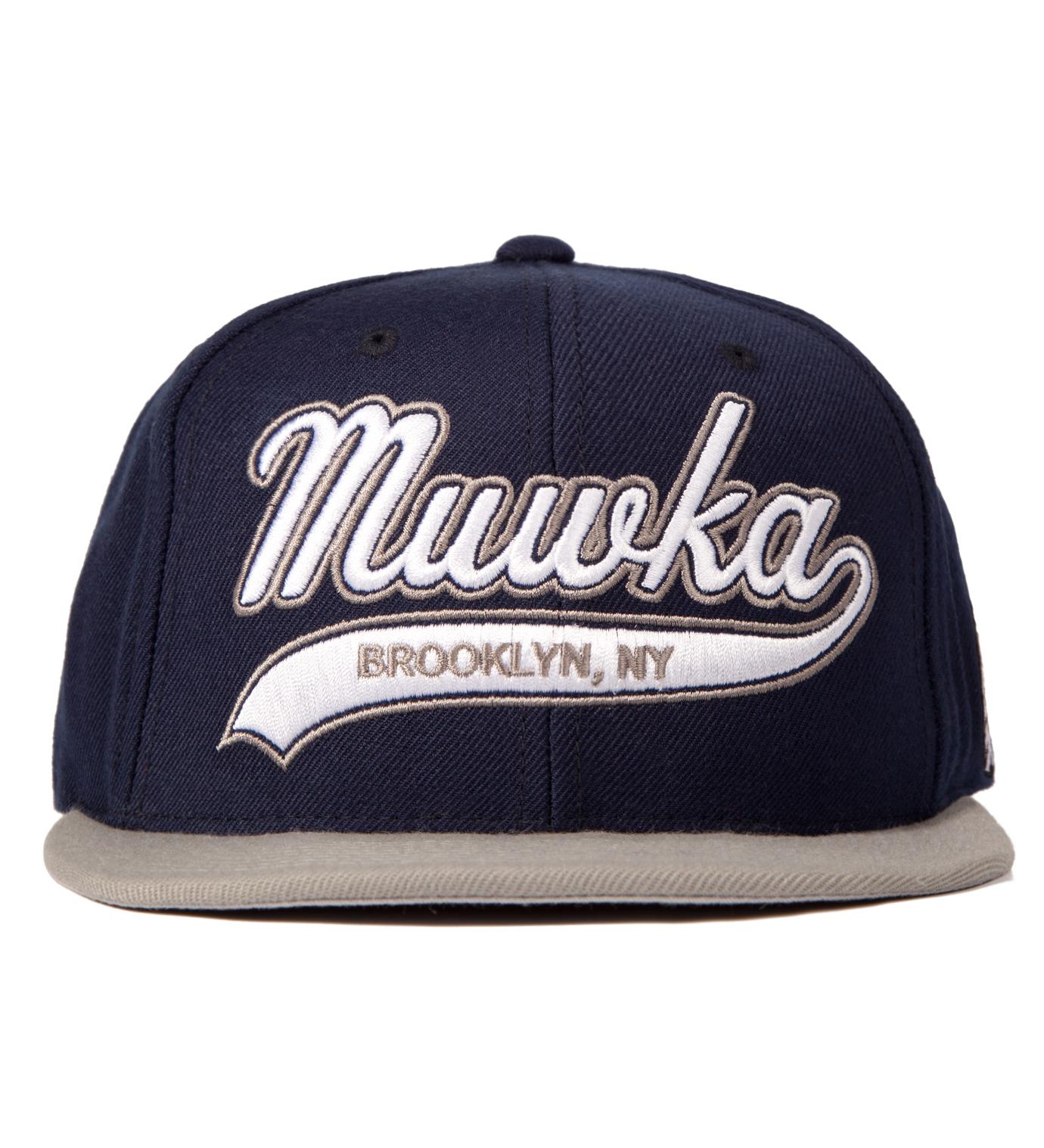 Mishka Navy Cyrillic Script Starter Snapback Cap