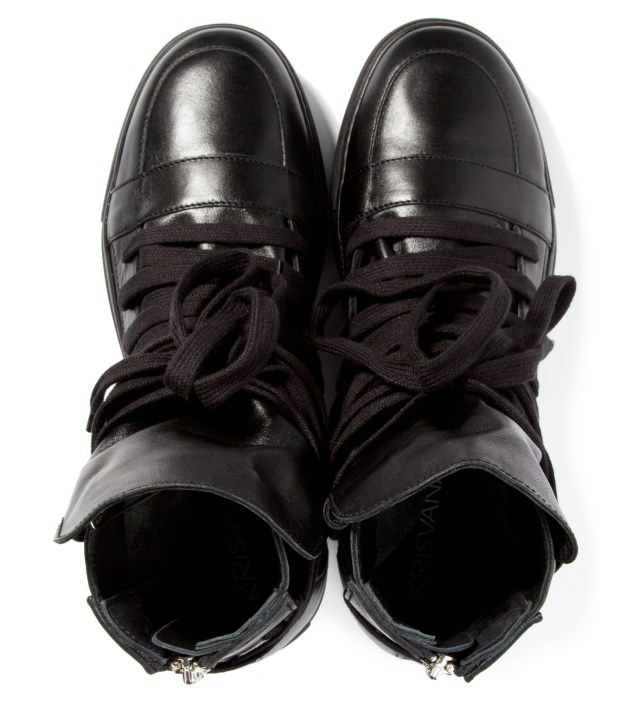 KRISVANASSCHE Black Multi Laces Sneakers