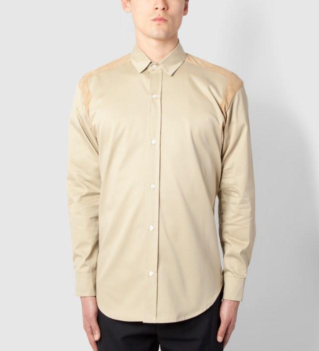Lou Dalton Stone/Suede Strap Shoulder Shirt
