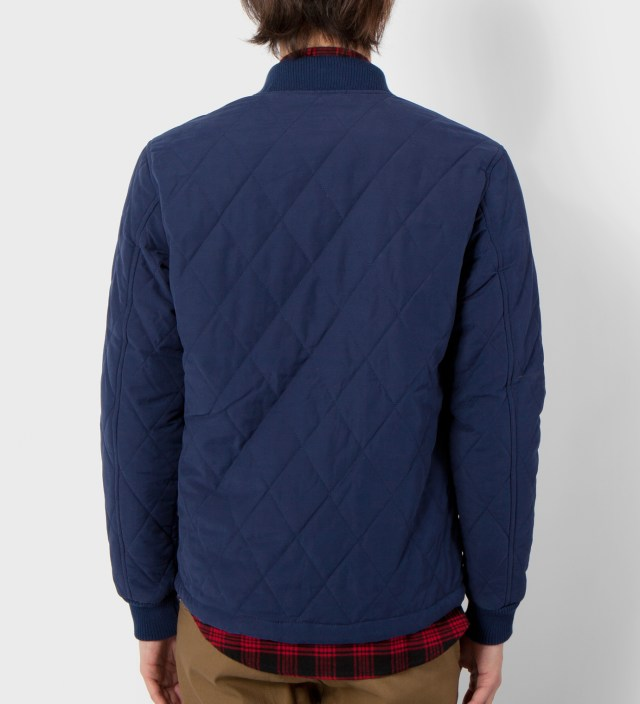 DQM Navy Sheppard Diamond Quilted Jacket