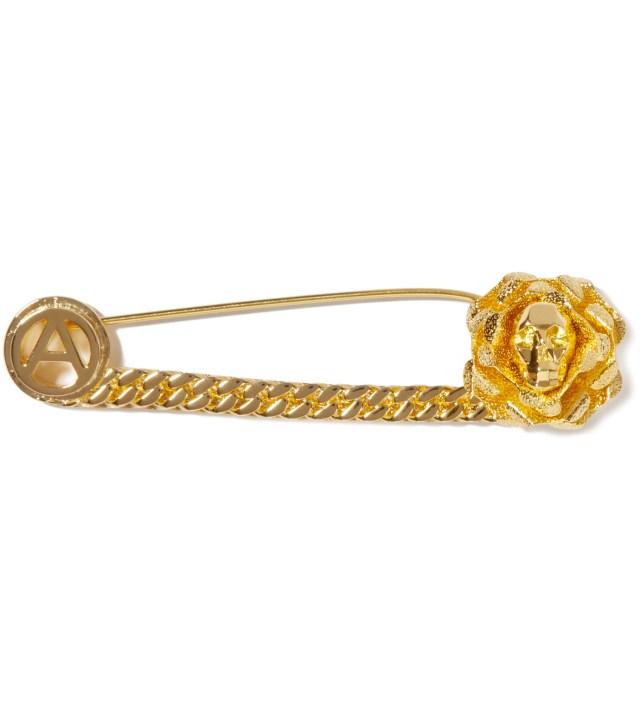 AMBUSH Gold Skull Safety Pin