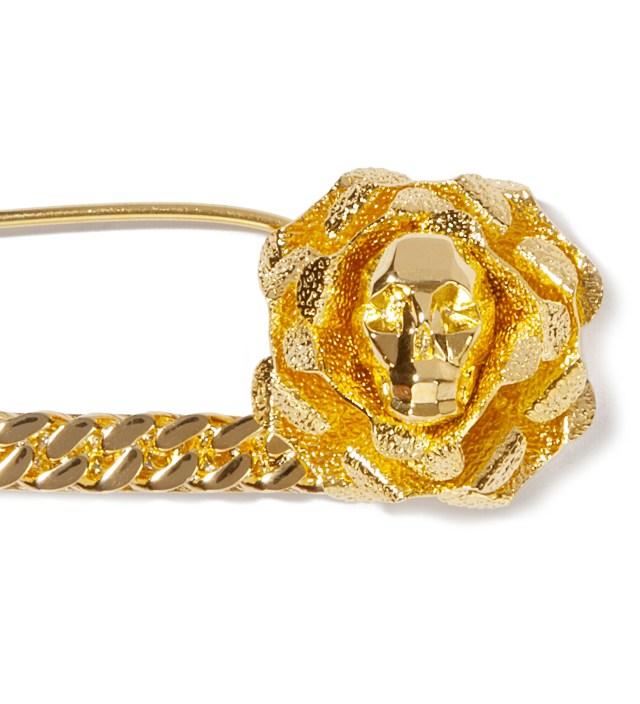 AMBUSH Gold Skull Safety Pin